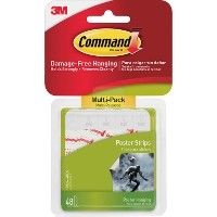Command™ Poster Strips, MultI-Pack 48 Strips - Poster
