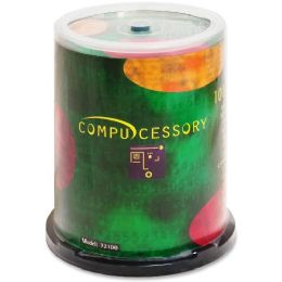 Compucessory CD Recordable Media - CD-R - 52x - 700 MB - 100 Pack Spindle - Data Media