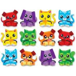 108 Units of Trend Blockstar Dogs & Cats Classic Accent Set - Classroom Learning Aids