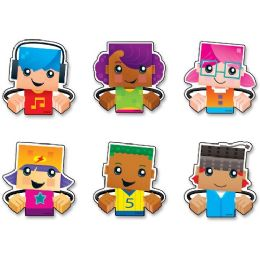 144 Units of Trend BlockStars Clips Mini Accents Variety Pack - Classroom Learning Aids