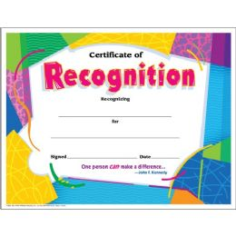 Trend Certificate of Recognition - Classroom Learning Aids