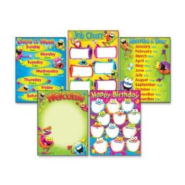 60 Units of Trend Classroom Basics Frog-tastic! Learning Chart - Classroom Learning Aids