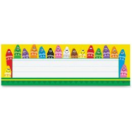 Trend Colorful Crayons Name Plates - Crayon