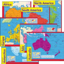 Trend Continents Learning Chart - Classroom Learning Aids