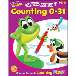 Trend Counting 0 to 31 Wipe-off Book Learning Printed Book - Classroom Learning Aids