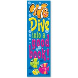 180 Units of Trend Dive into a Good Book Bookmark - Classroom Learning Aids