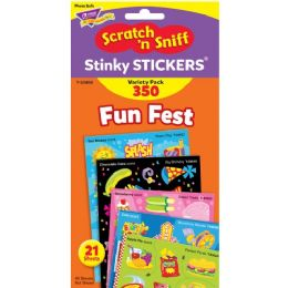 Trend Fun Fest Stinky Stickers Variety Pack - Classroom Learning Aids