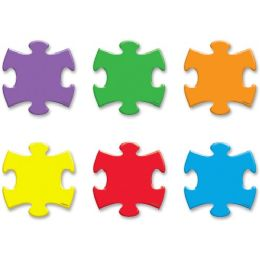 Trend Mini Puzzle Pieces Accent Varitey Pack - Classroom Learning Aids