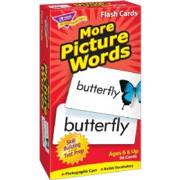 Trend More Picture Words Skill Drill Flash Cards - Classroom Learning Aids