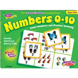 Trend Numbers 0-10 Match Me Games - Classroom Learning Aids