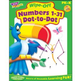 132 Units of Trend Numbers 1-31 Dot to Dot Wipe-off Book Learning Printed Book - Classroom Learning Aids