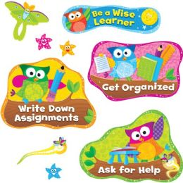 Trend Owl Study Habits Bulletin Board Set - Bulletin Boards & Push Pins