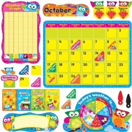 48 Units of Trend Owl-Stars Calendar Bulletin Board Set - Calendar