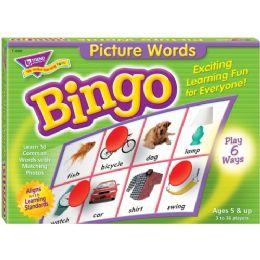 Trend Picture Words Bingo Game - Classroom Learning Aids