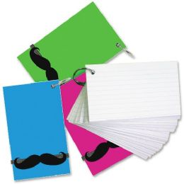 64 Units of Redi-Tag Mustache Band Ruled Index Cards - Tags