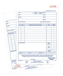 10 Units of Repair Order Book, 2-Part, 50 SH/BK - Order book