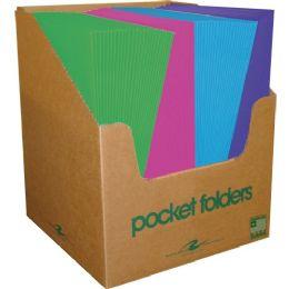 Roaring Spring Fashion Colors Embossed Two Pocket Portfolio - Folders & Portfolios