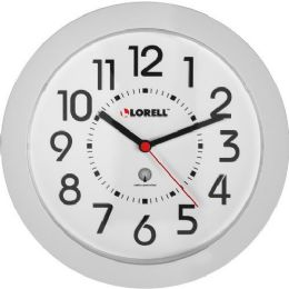 Lorell Round Profile Radio Controlled Wall Clock - File Folders & Wallets