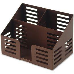 456 Units of Lorell Stamped Metal 3-Comt Desktop Organizer - Office Supplies