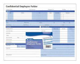 Confidential Employee Folder - Folders & Portfolios