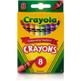 528 Units of Crayola Regular Size Crayon Sets 8 Pack - Crayon