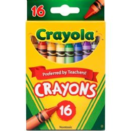 288 Units of Crayola Regular Size Crayon Sets 16 Count Pack - Crayon