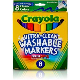 120 Units of Crayola Classic Washable Marker Set - Markers