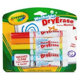 144 Units of Crayola Crayola DrY-Erase Washable Broadline Markers - Markers