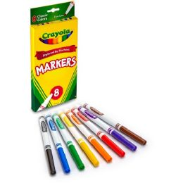 144 Units of Crayola Fine Tip Classic Markers - Markers