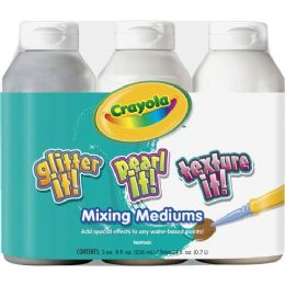 48 Units of Crayola Mixing Mediums Paint Effects - Paint