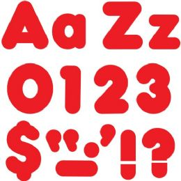 """Trend Red 4"""" Casual Combo Ready Letters Set - Classroom Learning Aids"""