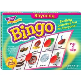 Trend Rhyming Bingo Learning Game - Classroom Learning Aids