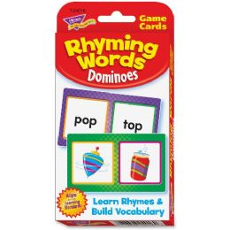 204 Units of Trend Rhyming Words Dominoes Challenge Cards - Classroom Learning Aids
