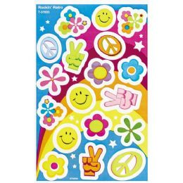 252 Units of Trend Rockin' Retro Foil Bright Stickers - Classroom Learning Aids