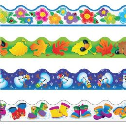 Trend Seasons Terrific Themed Trimmer Variety Pack - Classroom Learning Aids