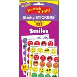 Trend Smiles Stinky Stickers Variety Pack - Classroom Learning Aids