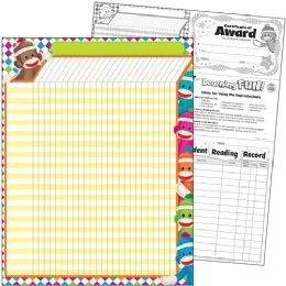 Trend Sock Monkeys Collection Large Incentive Chart - Classroom Learning Aids