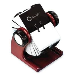 20 Units of Rolodex Wood Tones Rotary Business Card File - Business cards