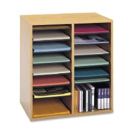 Safco 16 Compartments Adjustable Shelves Literature Organizer - Organizer