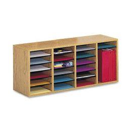 Safco 24 Compartment Adjustable Shelves Literature Organizer - Organizer