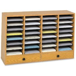 Safco 32 Compartments Adjustable Literature Organizer - Organizer