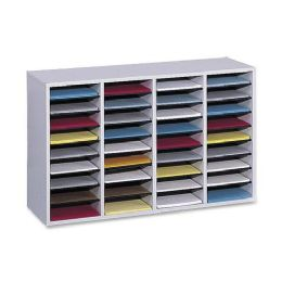 Safco 36 Compartment Adjustable Shelves Literature Organizer - Organizer