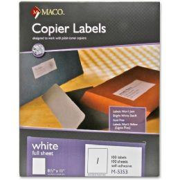 30 Units of Maco M-5353 SelF-Adhesive Full Sheet Copier Labels - Labels