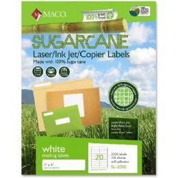 25 Units of Maco Printable Sugarcane Mailing Labels - Labels