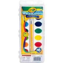 120 Units of Crayola Washable Watercolor Set - Paint, Brushes & Finger Paint