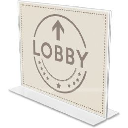 Deflect-o Anti-Glare Double-sided Sign Holder - Sign