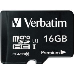 Verbatim 16GB microSDHC Card (Class 10) w Adapter - Flash Drives