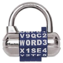 Master Lock SeT-YouR-Own Password Plus Combination Padlock - Office Clipboards
