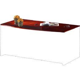 Mayline Corsica Veneer Series Bowfront Desk Top - Office Supplies