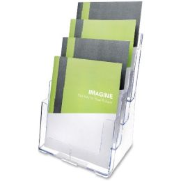 Deflect-o Multi-Compartment Literature Rack - Office Supplies